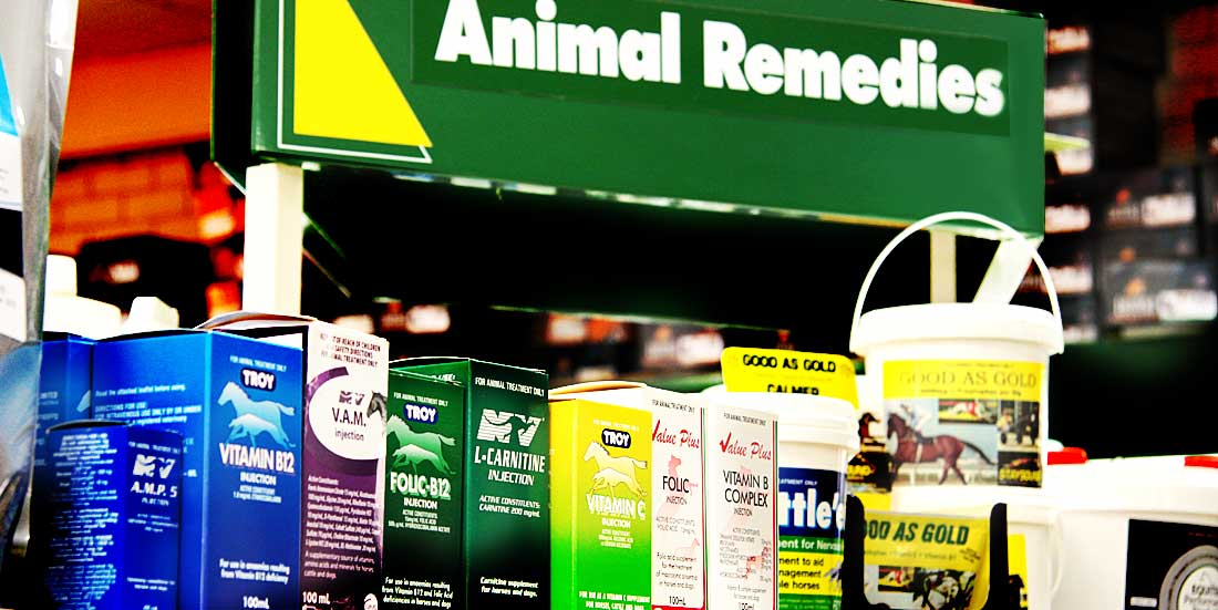 store display of animal remedies